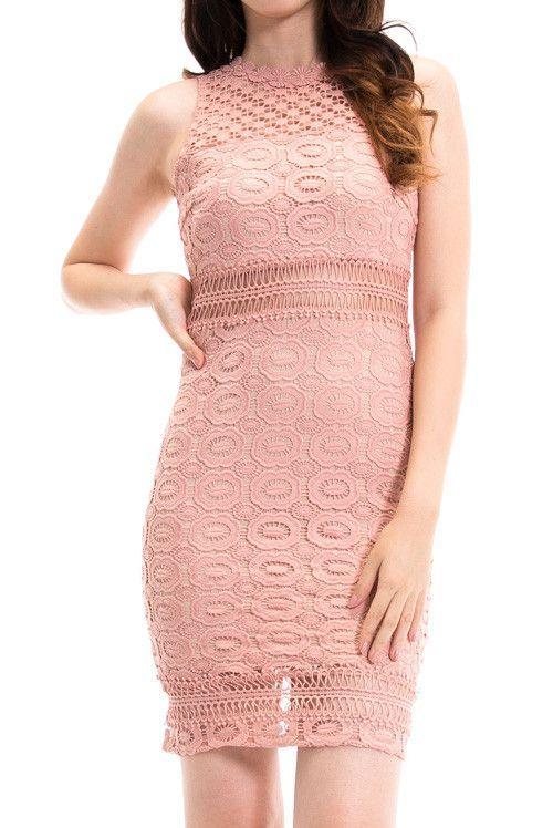 Dusty Lace Waist Dress