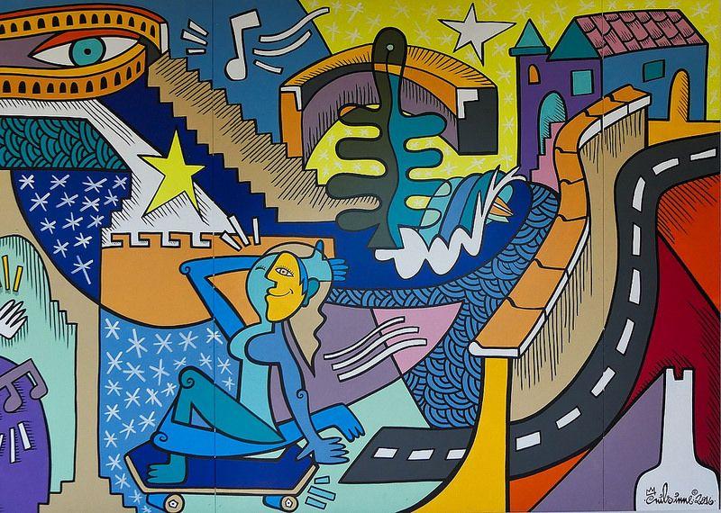 Nils INNE -  Fresque 4/4 | par Thethe35400