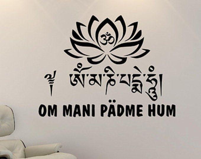 Spiritual Tattoos Buddhist Mandala Wall Decal Namaste Om Sign