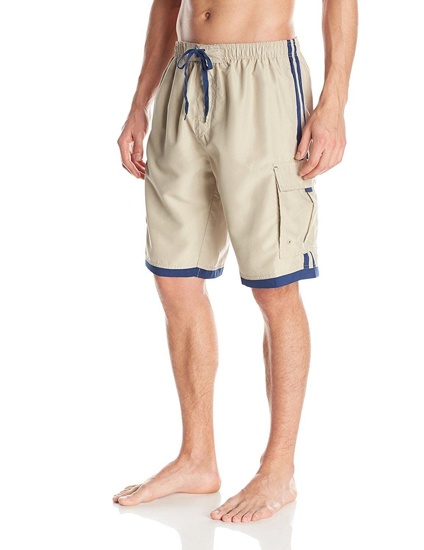 3d47ec0d5b Men's Clothing, Swim, Board Shorts, Men's Impersonator Elastic Waist Knee  Length Swim Trunk - Stone - C311PN6NPVT #fashion #Swim #men #outfits  #shopping ...