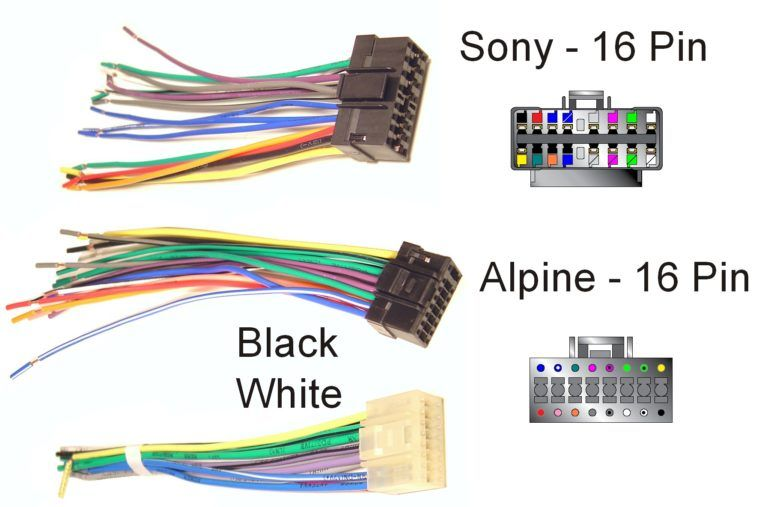 Sony Car Stereo Wiring Colors Diagram In