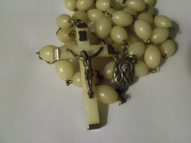 Vintage Glow in Dark Rosary Italy Extra Long. Starting at $25 on Tophatter.com!