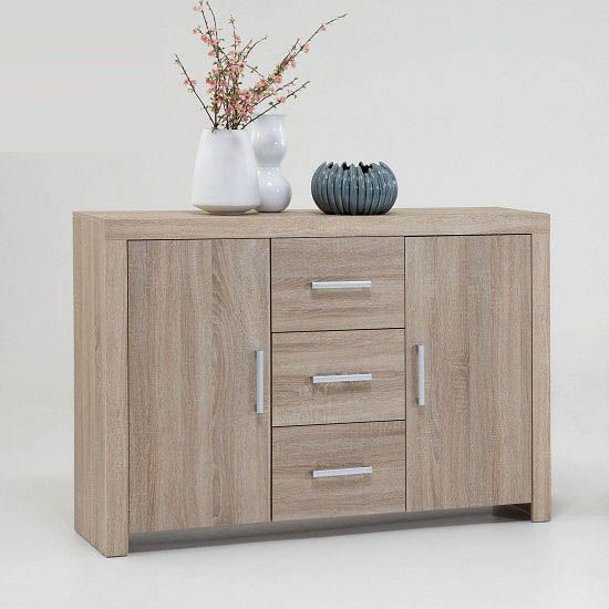 Country33 Oak Finish 2 Door Sideboard With 3 Drawers Buy Modern Sideboard Cabinet Furniture In Fashion Sideboard Uk Wooden Sideboard Sideboard Furniture