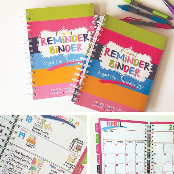BLOW OUT Set Of 2 2016-2017 Reminder By