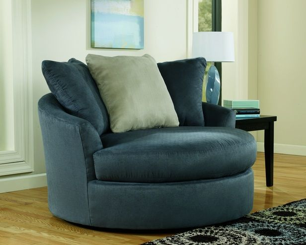 Exceptional Signature Design By Ashley Mindy Indigo Oversized Swivel Accent Chair. Find  This Pin And More On Living Room Decor ... Design