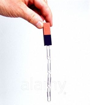 With a magnet grab a paper-clip. Grab another one with end of the ...