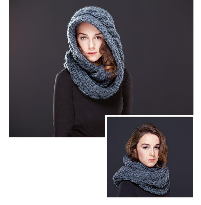 Free Strickanleitung Scoodie Ly Nkrnky Tky Scarves