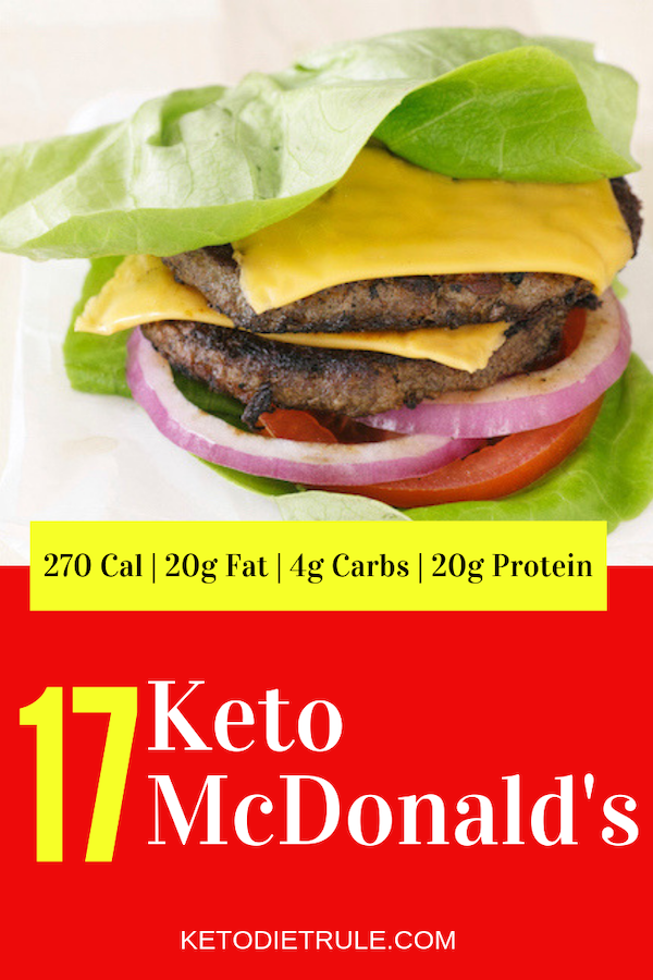 Keto low-carb double cheese burger with no-bun at McDonald's that won't kick you out of ketosis. #ketomcdonalds #ketodiet #ketogenicdiet #ketosis