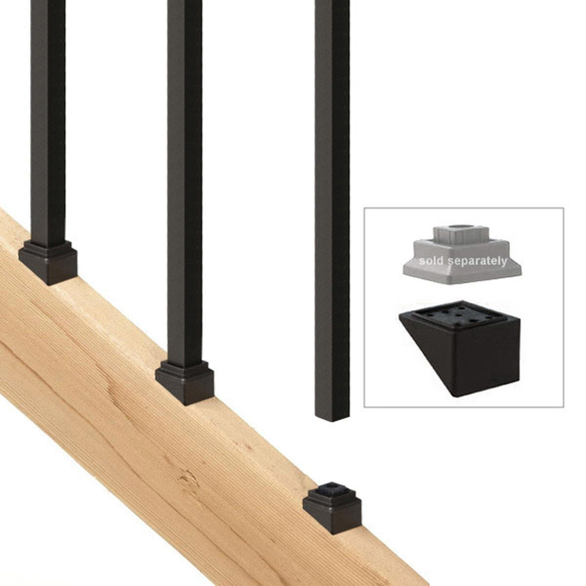 Best Stair Adaptor For Square Balusters By Deckorators In 2020 400 x 300