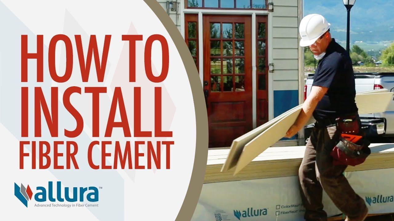 How To Install Fiber Cement Siding Allura Usa Youtube Concrete Siding Fiber Cement Siding Installation Cement Siding