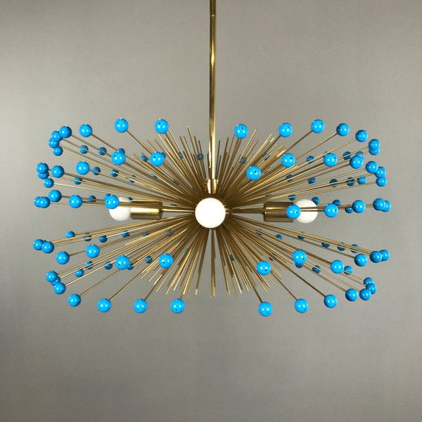 Turquoise beaded gold urchin chandelier lighting 565 via polyvore turquoise beaded gold urchin chandelier lighting 565 via polyvore featuring home lighting aloadofball Images