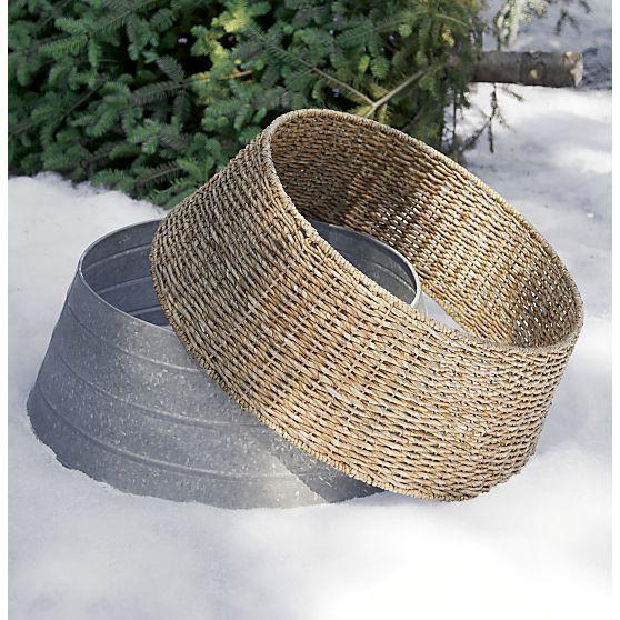 Galvanized Tree Collar in Decor Crate and Barrel { dream house