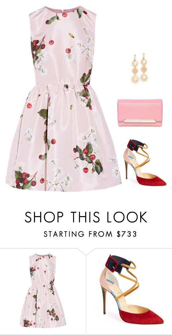 """Untitled #2738"" by elia72 ❤ liked on Polyvore featuring RED Valentino and Christian Louboutin"