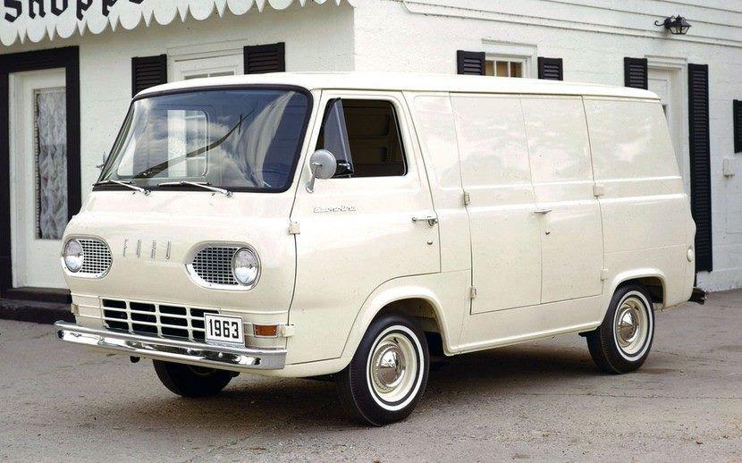 1963 Ford Econoline Panel Ford Van Vintage Pickup Trucks Ford Econoline Cargo Van