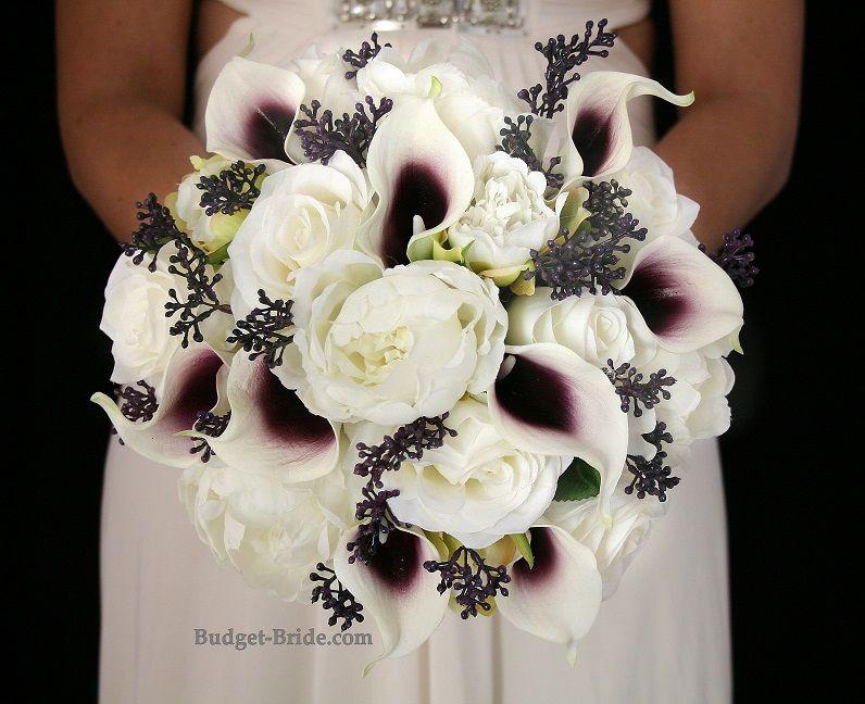 Silk plum picasso calla lily bouquet complete wedding flowers silk plum picasso calla lily bouquet complete wedding flowers packages starting at 100 mightylinksfo