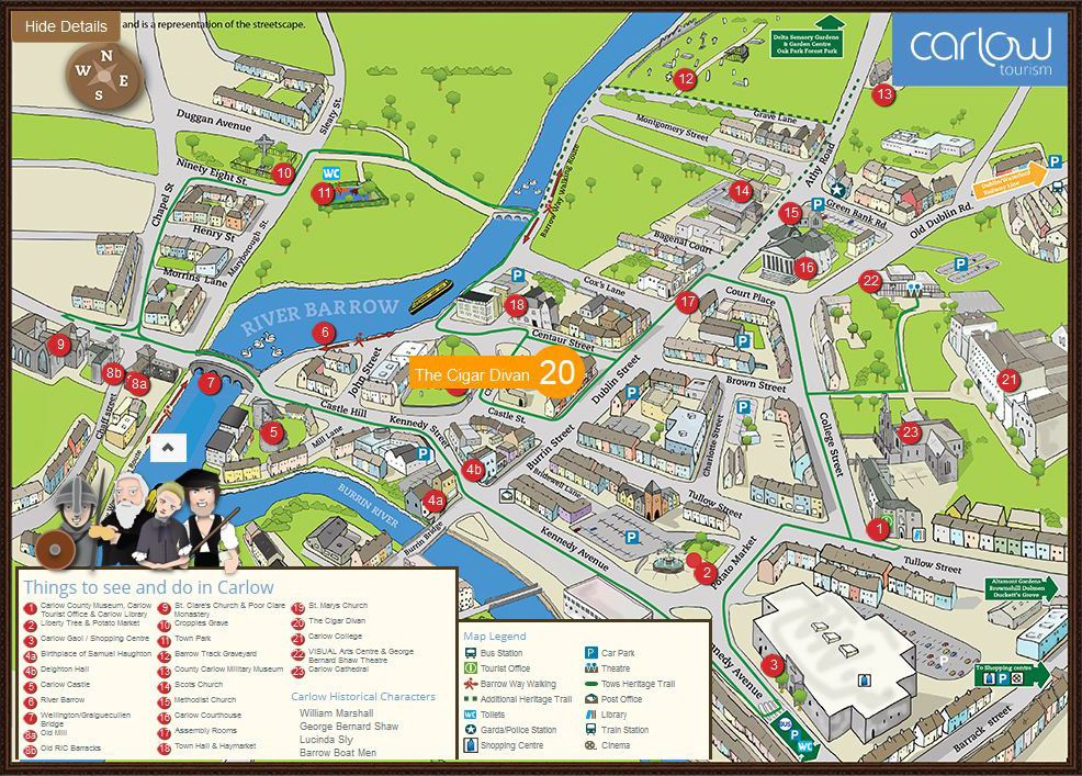 Carlow On Map Of Ireland.Carlow Town Map County Carlow Ireland Ireland Trip Map