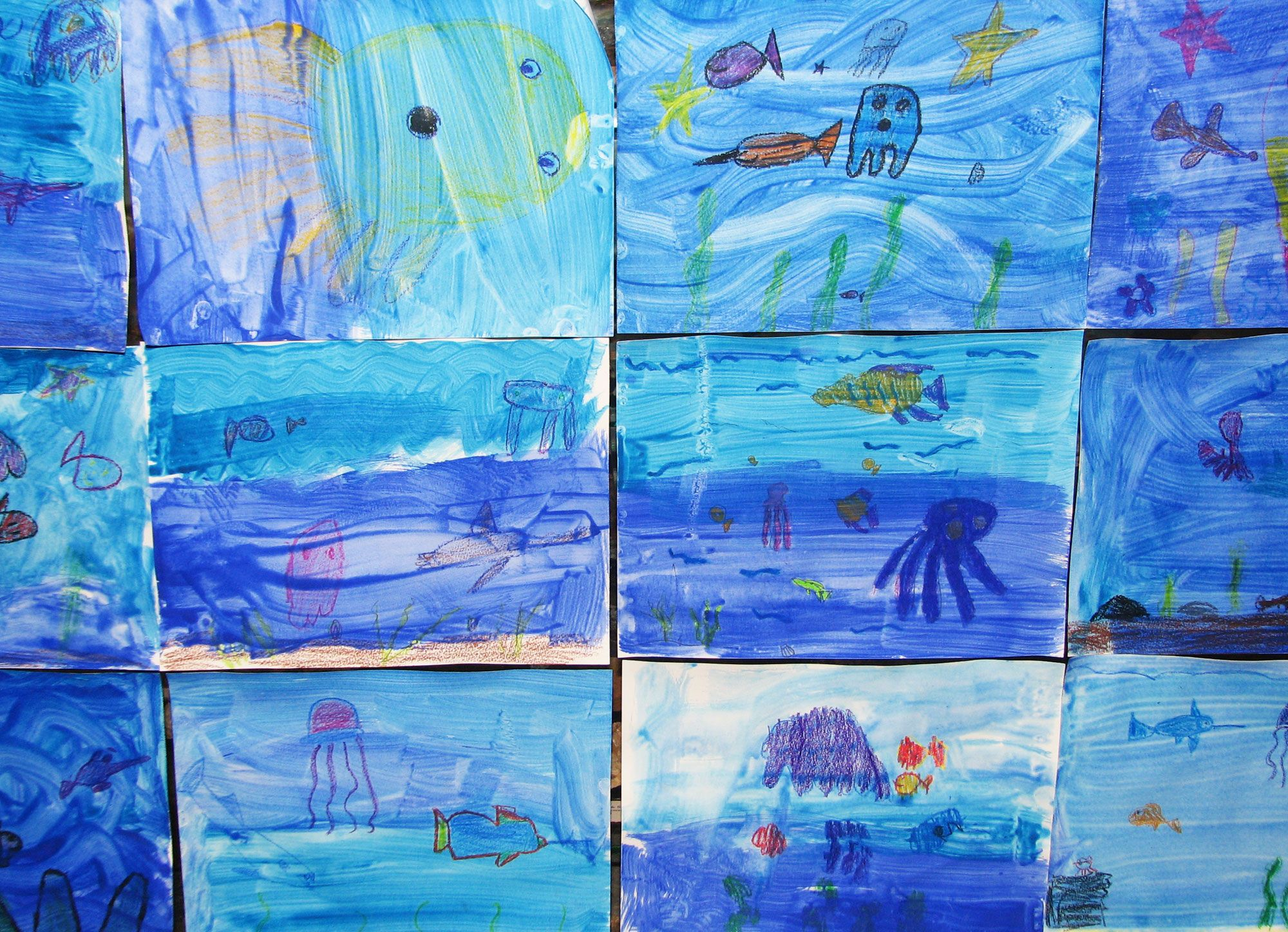 Fish Wax Resist Art Based On The Leo Lionni Book