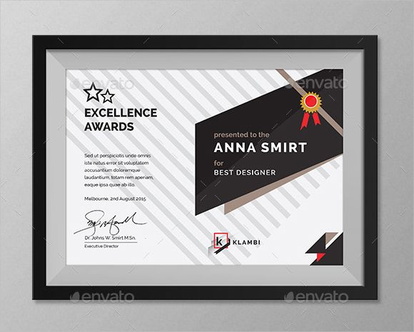 excellence award certificate certificate Pinterest Template - excellence award certificate template