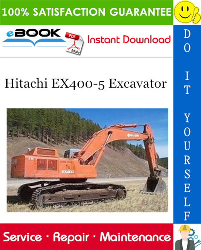 Hitachi Ex400 5 Excavator Service Repair Manual In 2020 Parts Catalog Hitachi Excavator