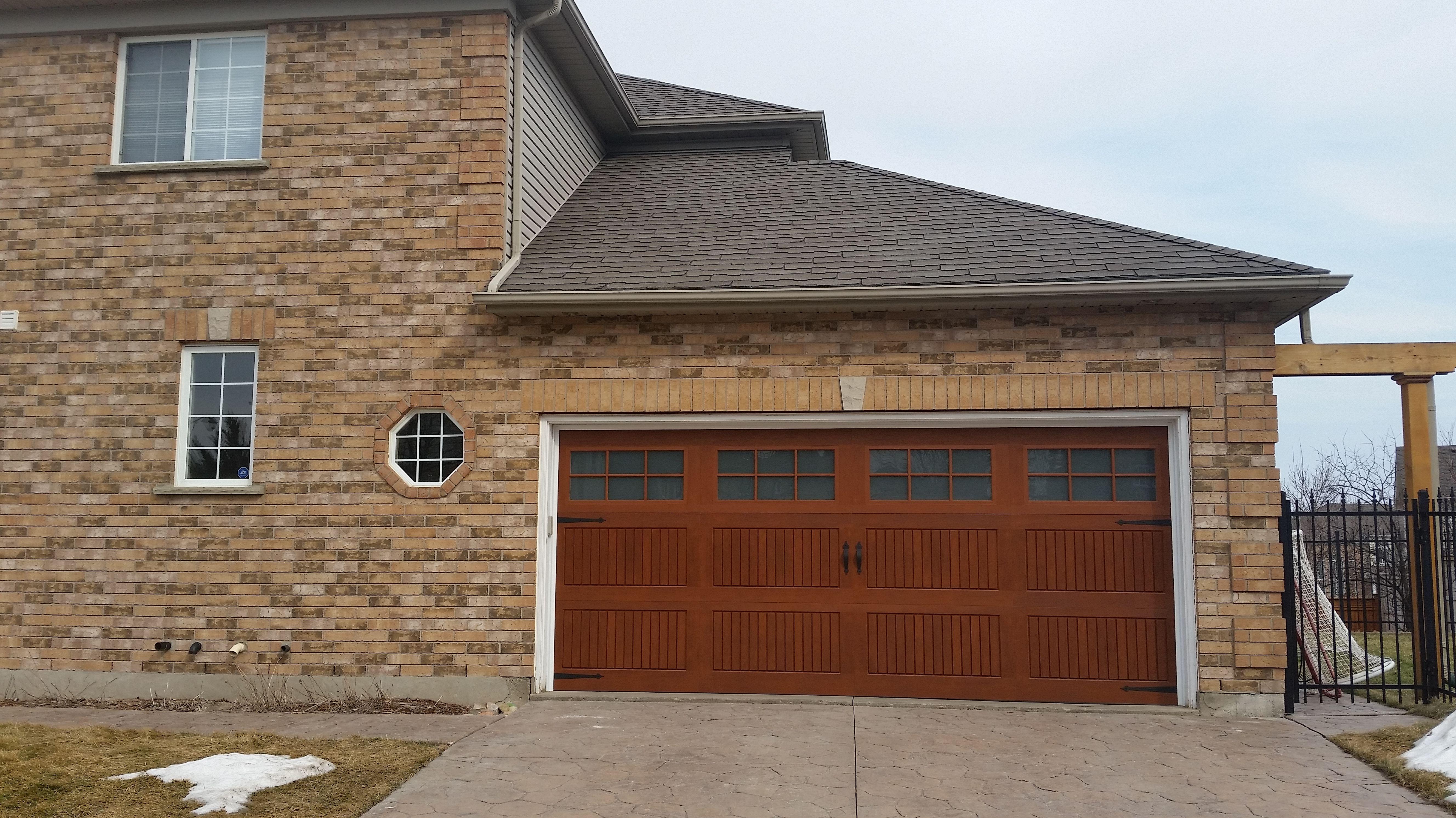 Wayne Dalton 9800 In Sonoma Cherry Wood Grain I 16826 Carriage House Doors Garage Door Design Garage Doors