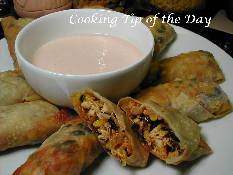 Southwestern Egg Rolls Like Bennigans Dipping Sauce 1 Cup Mayonnaise 4 Tablespoons Salsa