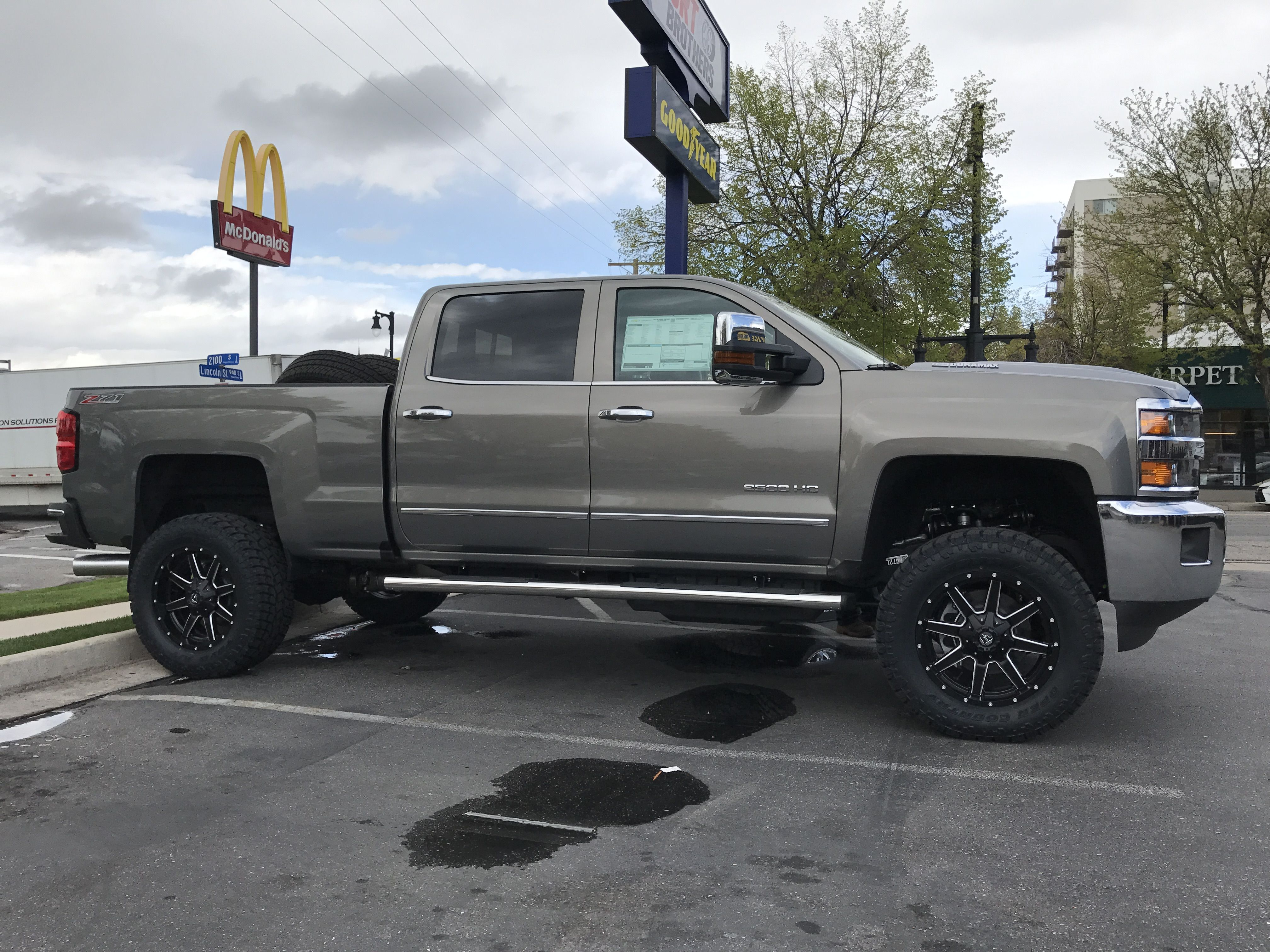 2017 chevy 2500hd with 4 bds lift and fox shocks 20x9 fuel maverick wheels and 35x12 50r20 toyo a t2 tires  [ 4032 x 3024 Pixel ]