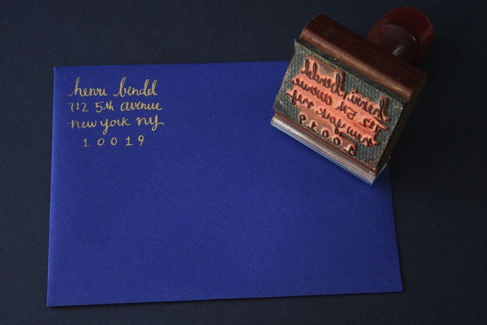 Custom stamp for return address #wedding #invitations