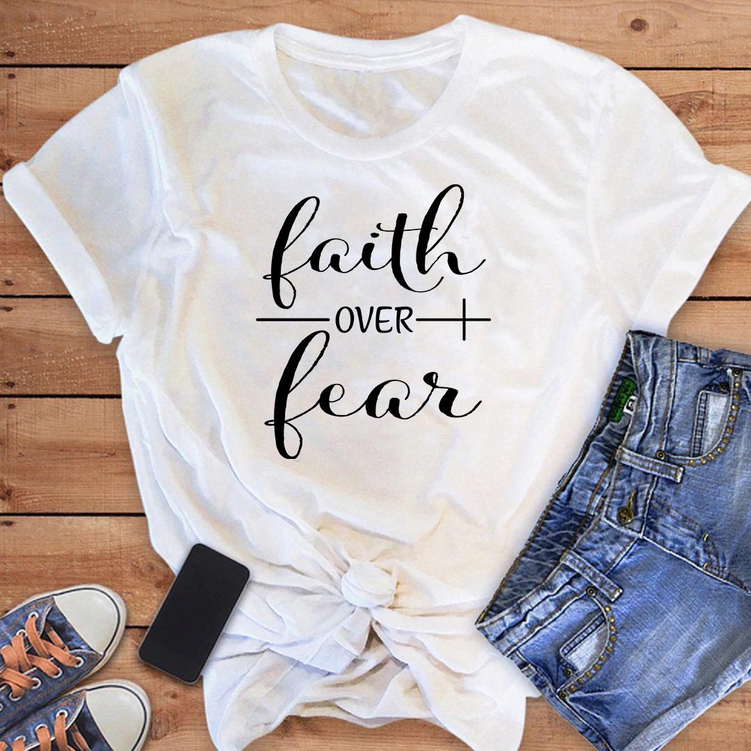 Faith Over Fear Tee - White / 3XL