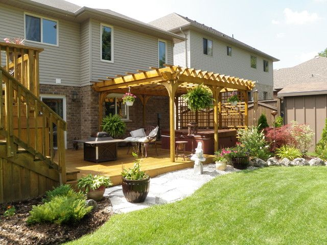 Outdoor-Privacy-Screens-For-Hot-Tubs. Pergola And Hot Tub Privacy Screen Traditional Patio Toronto By Construction Inc