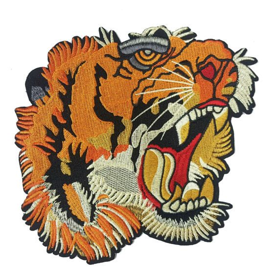 7327052e5c389 Tiger Patch Applique for Sewing Embroidered Tiger Badge by KBazaar #gucci  #guccitiger