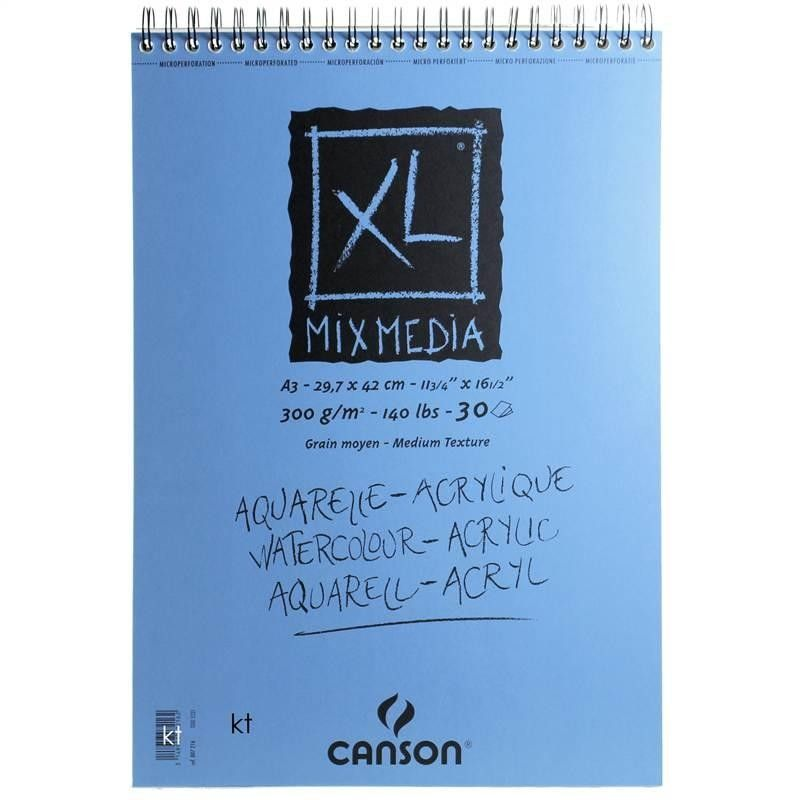 Canson Xl Series Mix Media Pad Canson Xl Mixed Media Paper Pad 300gsm 30 Sheets Painted Paper