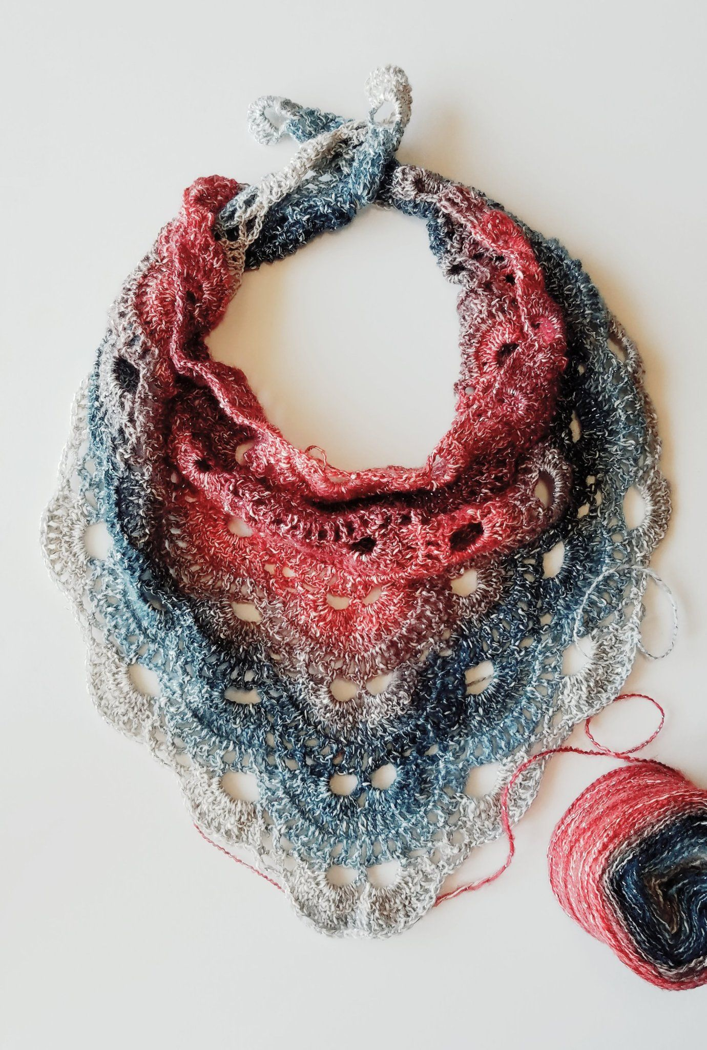How to crochet Virus Scarf #shawlcrochetpattern