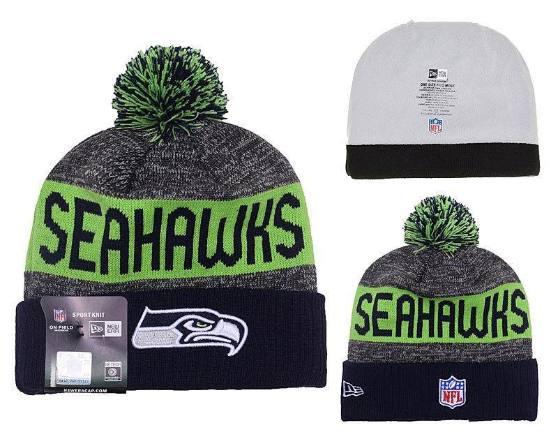 2213cc4bba3 Men s   Women s Seattle Seahawks New Era 2016 NFL Sideline Sport Knit Pom  Pom…
