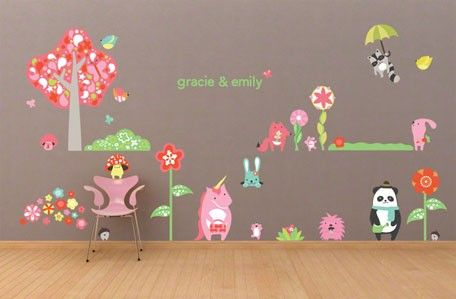 Timberland Friends Girl Removable And Repositionable Canvas Wall Decals From Oopsy Daisy Fi Kids Wall Decals Kids Room Wall Decals Childrens Wall Decals