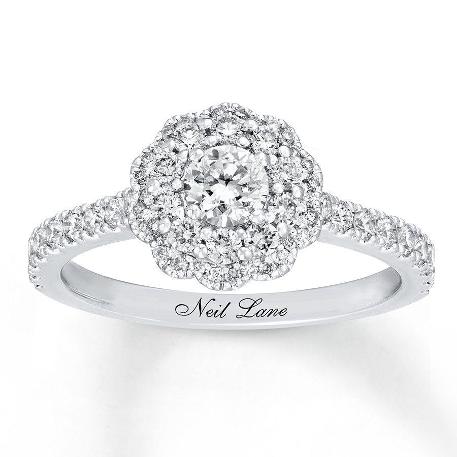 Neil Lane Engagement Ring 1 Ct Tw Diamonds 14k White Gold 940349614 Kay Neil Lane Engagement Rings Engagement Rings Vintage Halo Engagement Rings