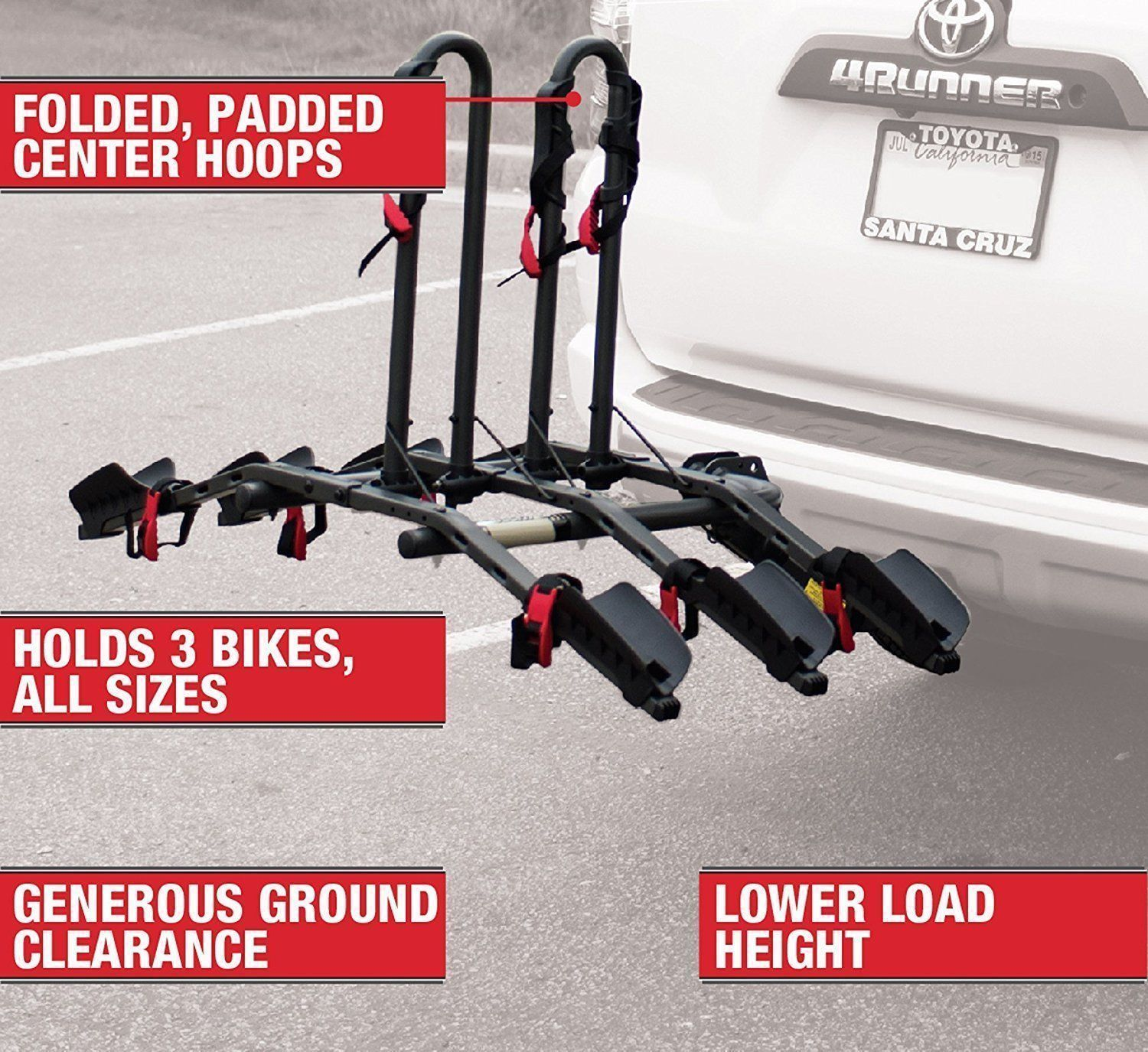 Car And Truck Racks 177849 Bell Right Up 300 3 Bike Hitch Rack
