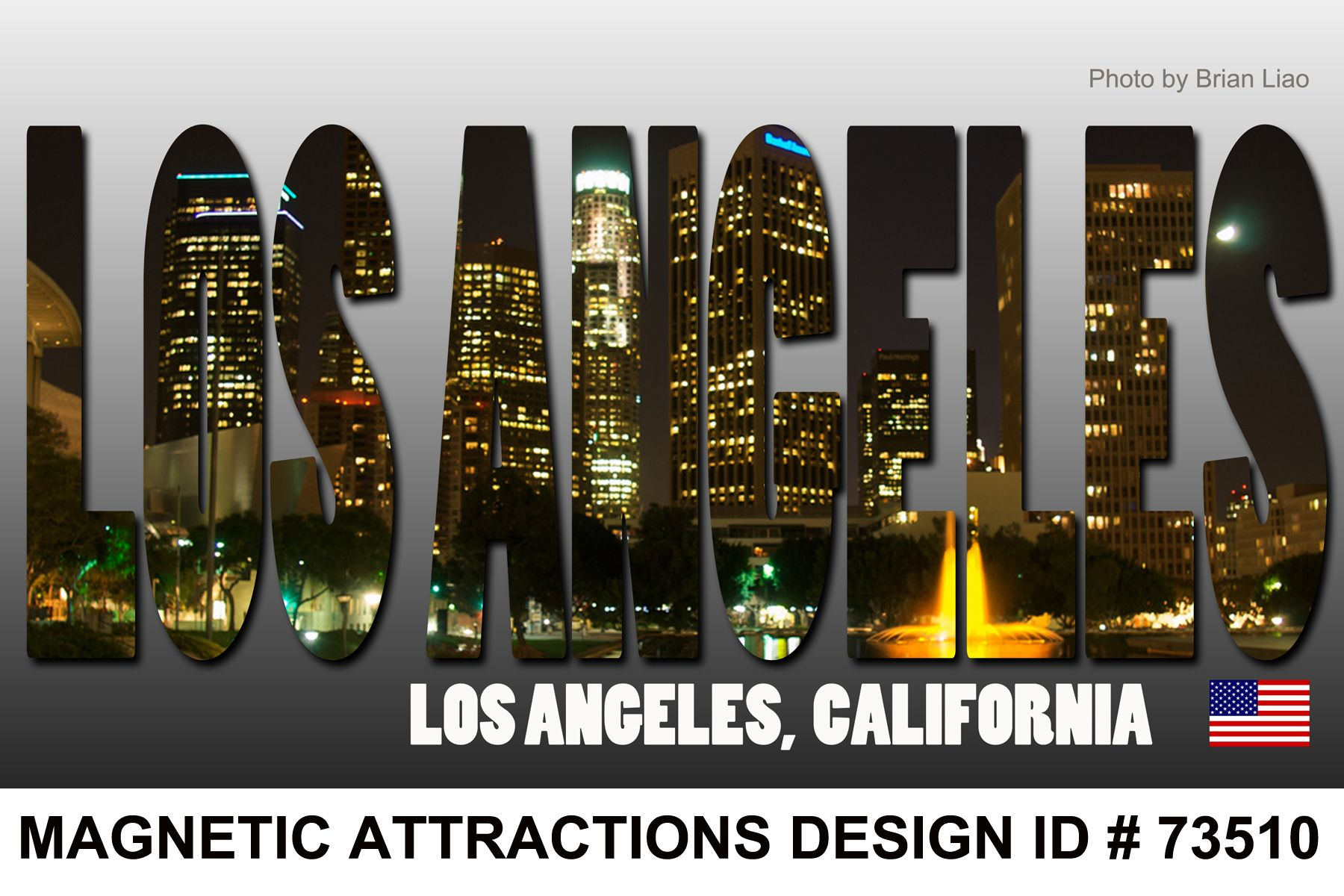 Design Los Angeles Skyline Magnet 73510 Los Angeles In Spanish Meaning The Angels Officially The City Of Lo Los Angeles Skyline Magnets California State