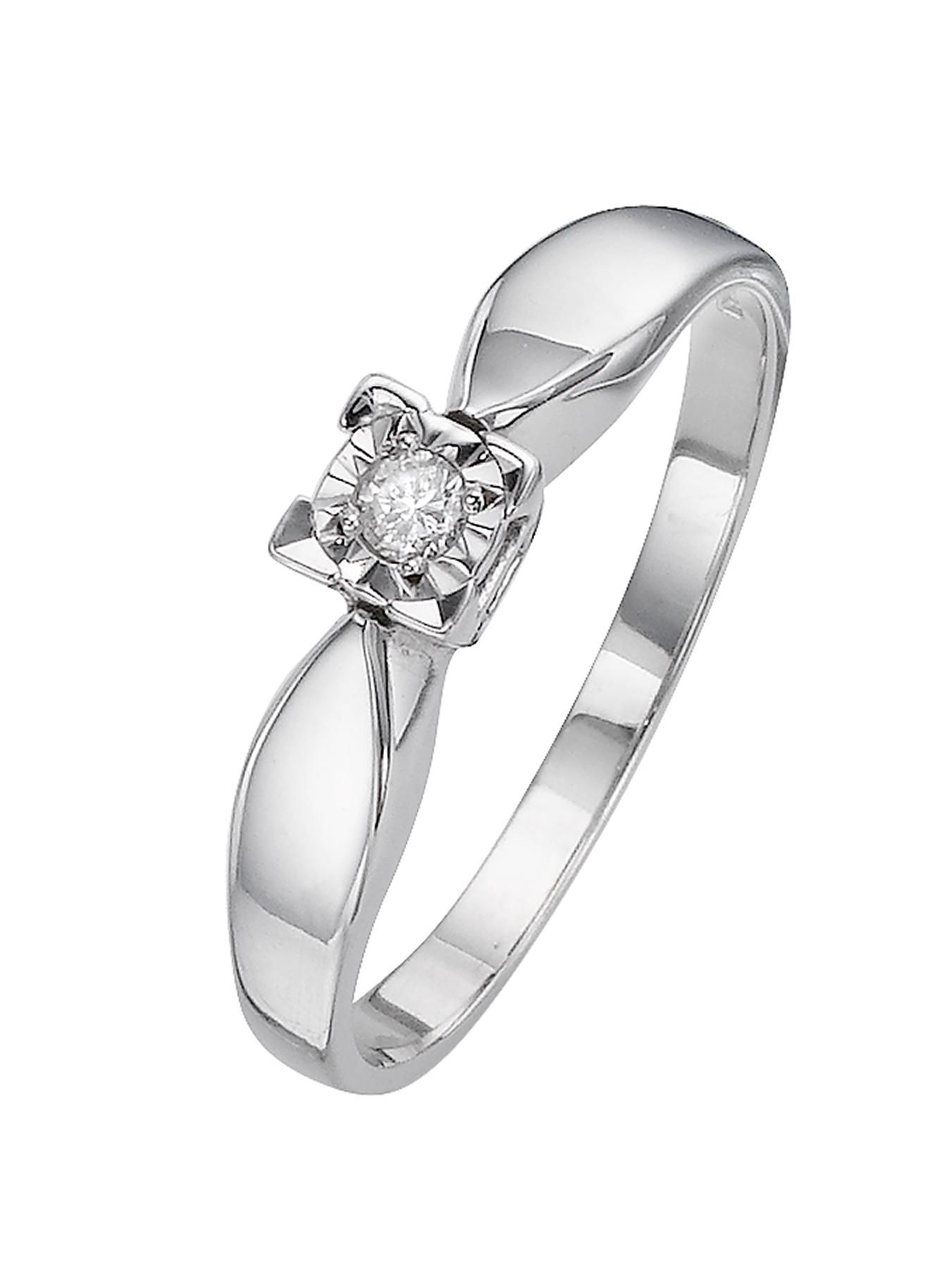 Love DIAMOND 9 Carat White Gold 5 Point Illusion Set Solitaire
