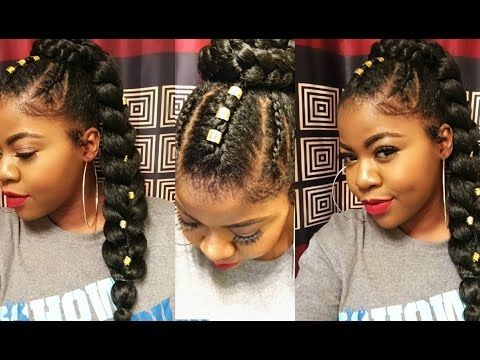 How To Sleek Ponytail With Braiding Hair Hairstyles For Black
