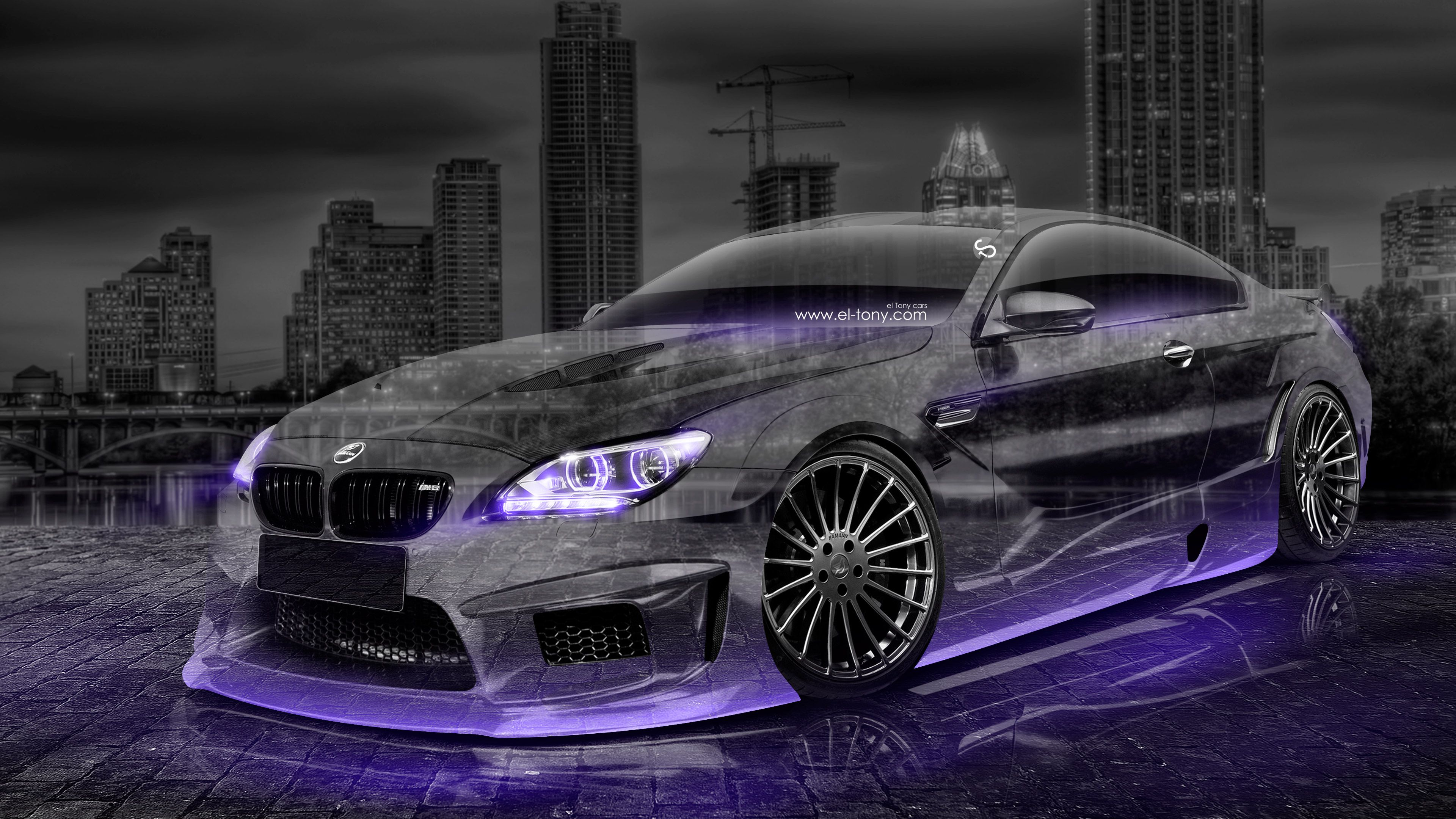 Attirant BMW M6 Hamann Tuning 3D Crystal City Car