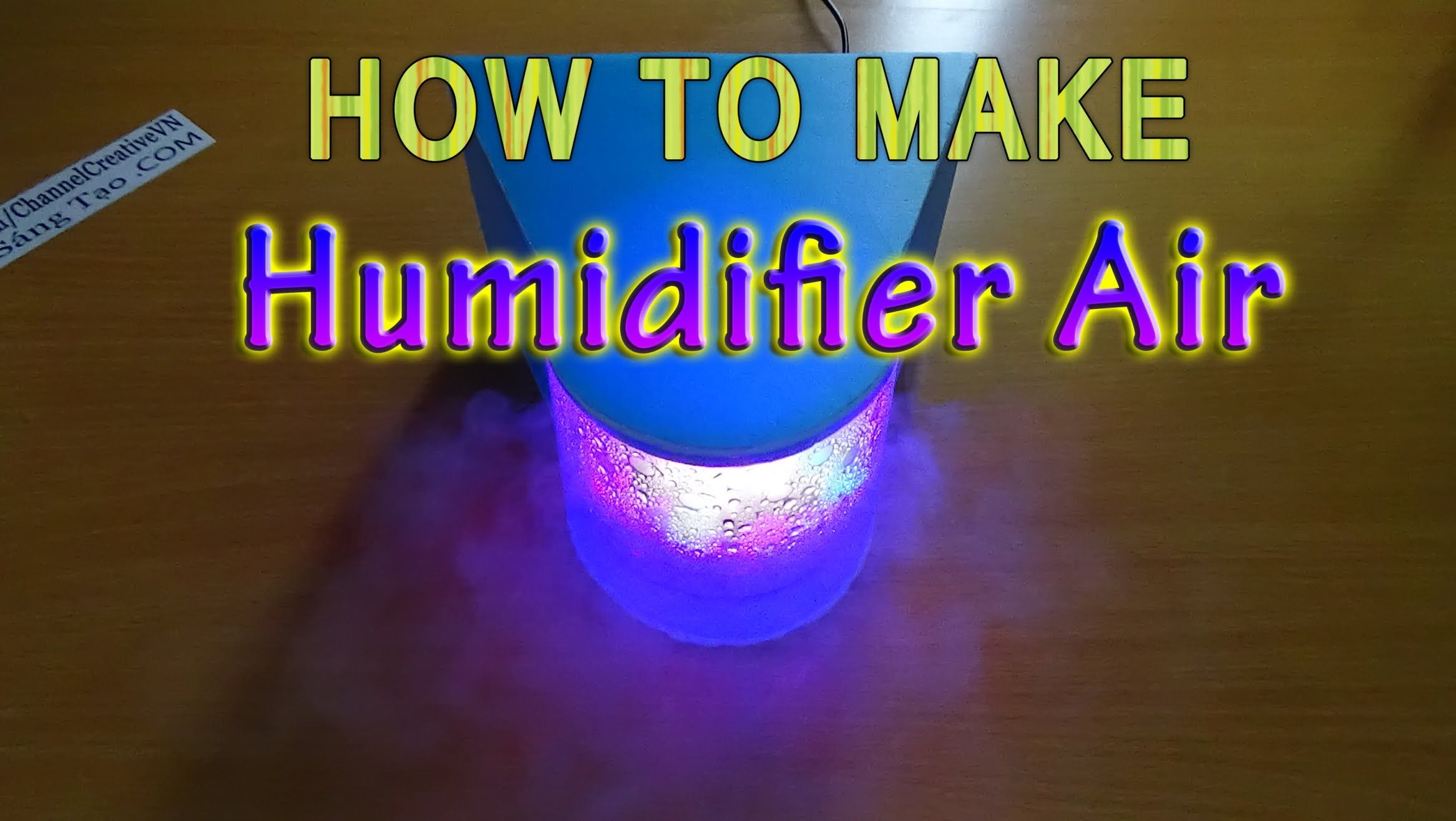 How To Make Humidifier Air Use Water Bottles Humidifier
