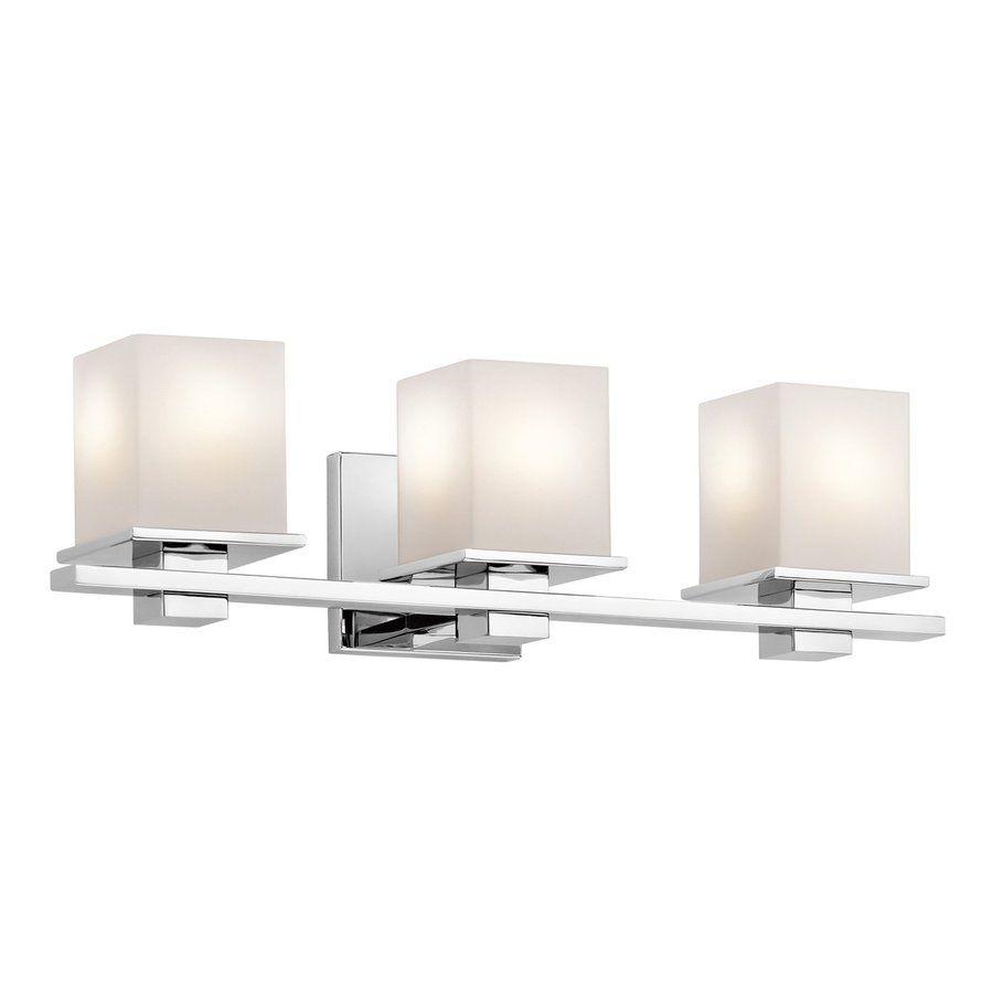 Tully 3 Light 6 5 In Chrome Square Vanity Light Bath Vanity
