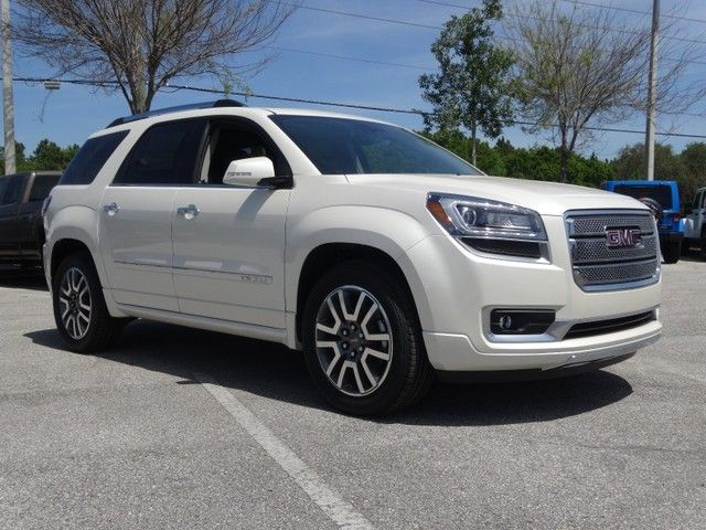 2014 Gmc Acadia Denali White Diamond Tricoat With Images Gmc Buick Gmc Acadia Denali