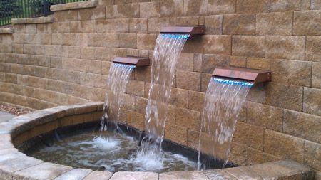 Waterfall spillways the secret garden pinterest for Pond waterfall spillway ideas
