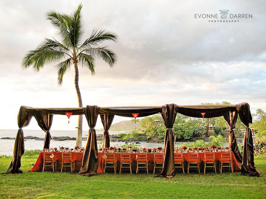 tent reception Kauai wedding, Destination wedding