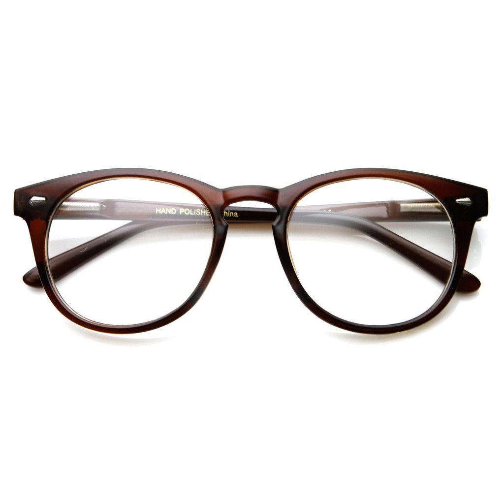 Eyeglass Frames Vintage : Classic Vintage Era Round P3 Clear Lens Optical Glasses ...