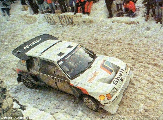 ra timo salonen seppo harjanne 54 rally monte carlo 1986 peugeot 205 turbo 16 clasificado 2. Black Bedroom Furniture Sets. Home Design Ideas
