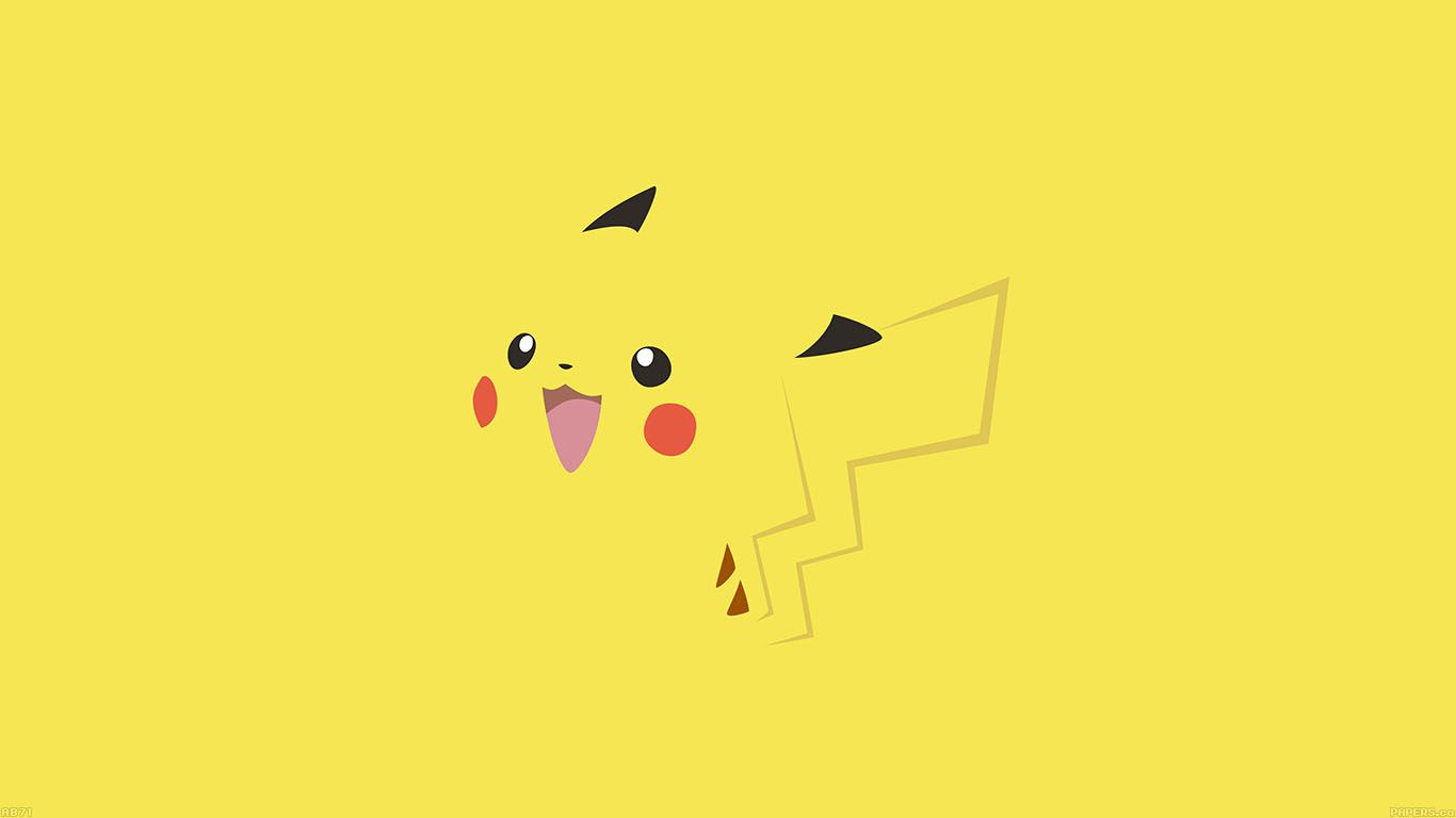 ab71wallpaperpikachuyellowanime Tapetes e Pokemon
