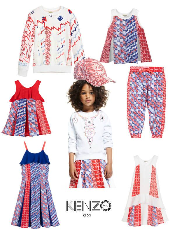 00ffc42623 Love this adorable KENZO Girls Mini Me Retro Print for Spring Summer 2017.  The perfect red