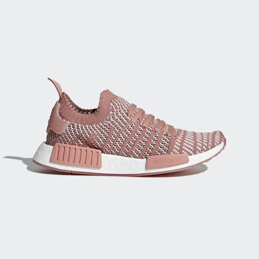 Adidas Originals Nmd R1 Stlt PK Primeknit W Women Boost Ash Pink New CQ2028